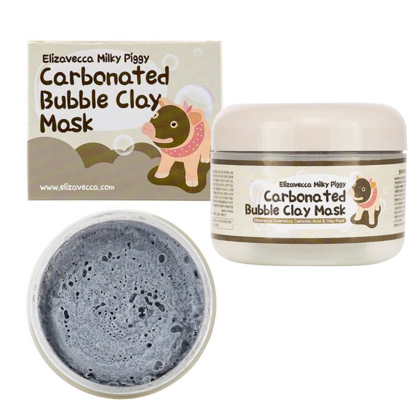A Review Of The Milky Piggy Carbonated Bubble Clay Mask Carbonated Bubble Clay Mask Clay Masks Clay Mask Beauty