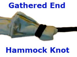 make a hammock ON THE SPOT from a bedsheet...this is a great knot to know that will enable you to make your own hammocks from nylon materials, etc.   Great knot to know if you live in flood prone areas