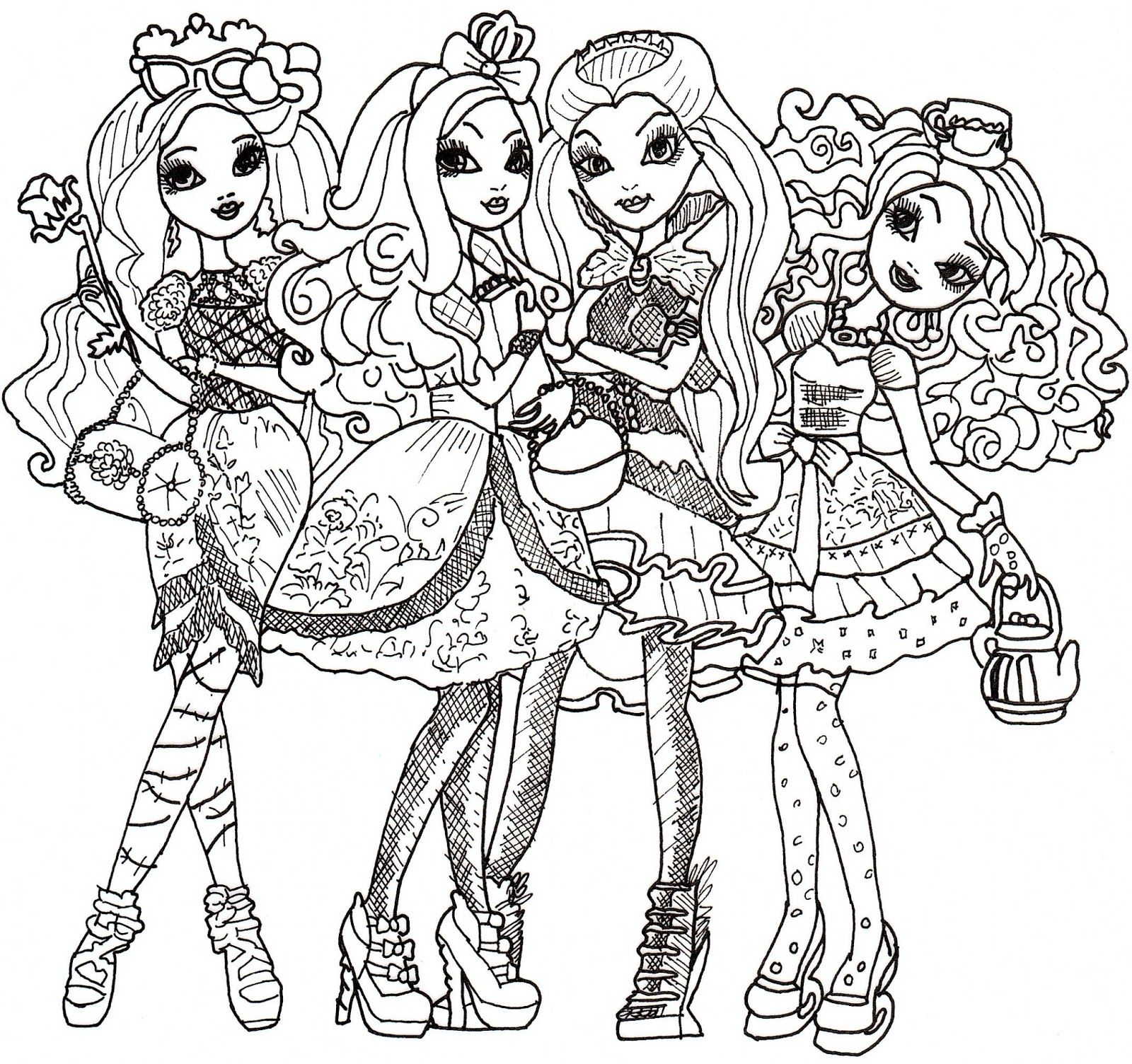 poppy coloring page ever after high coloring sheet fashion