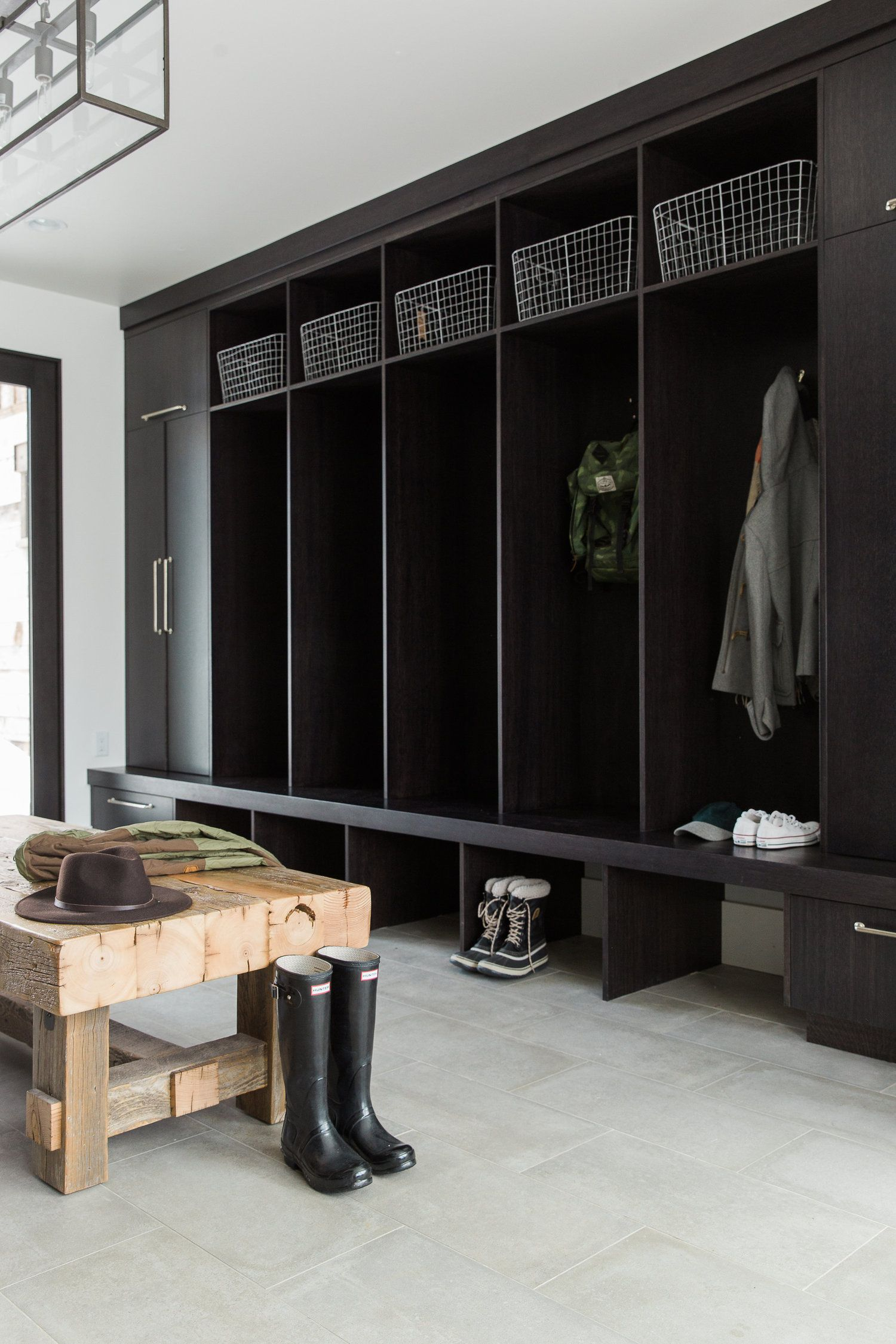 Modern mountain home tour master wing studio mcgee mudroom and