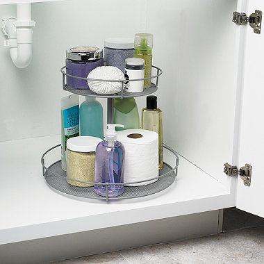 Simple Solutions Mesh Revolving Cabinet Organizer ...