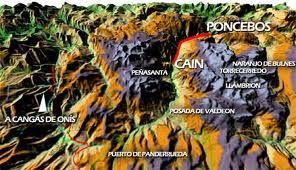 Mapa Ruta Del Cares.Mapa Montanoso De La Ruta Del Cares Rutas Del Cares