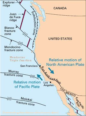 Cascadia Fault Line Map on
