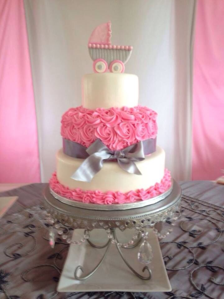 Newborn Baby Girl Cake With Images Baby Shower Cakes Girl