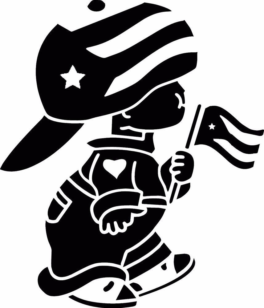 Puerto Rico Boy Car Decal Flag Boy Sticker Boricua With
