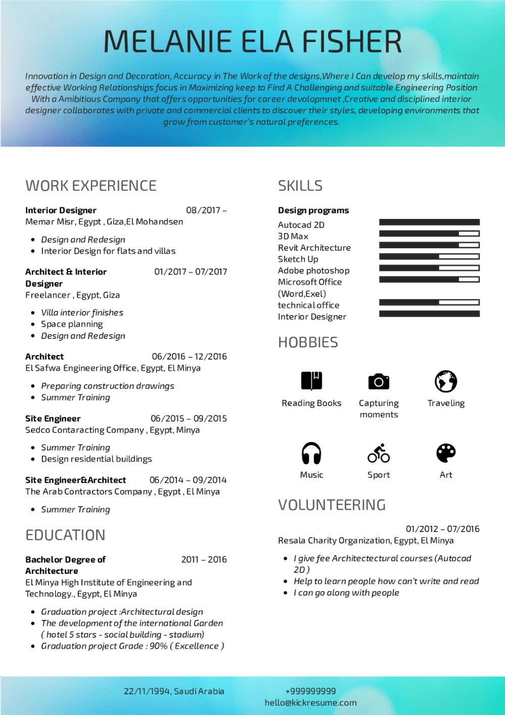 Interior designer resume in 2020 Interior design resume