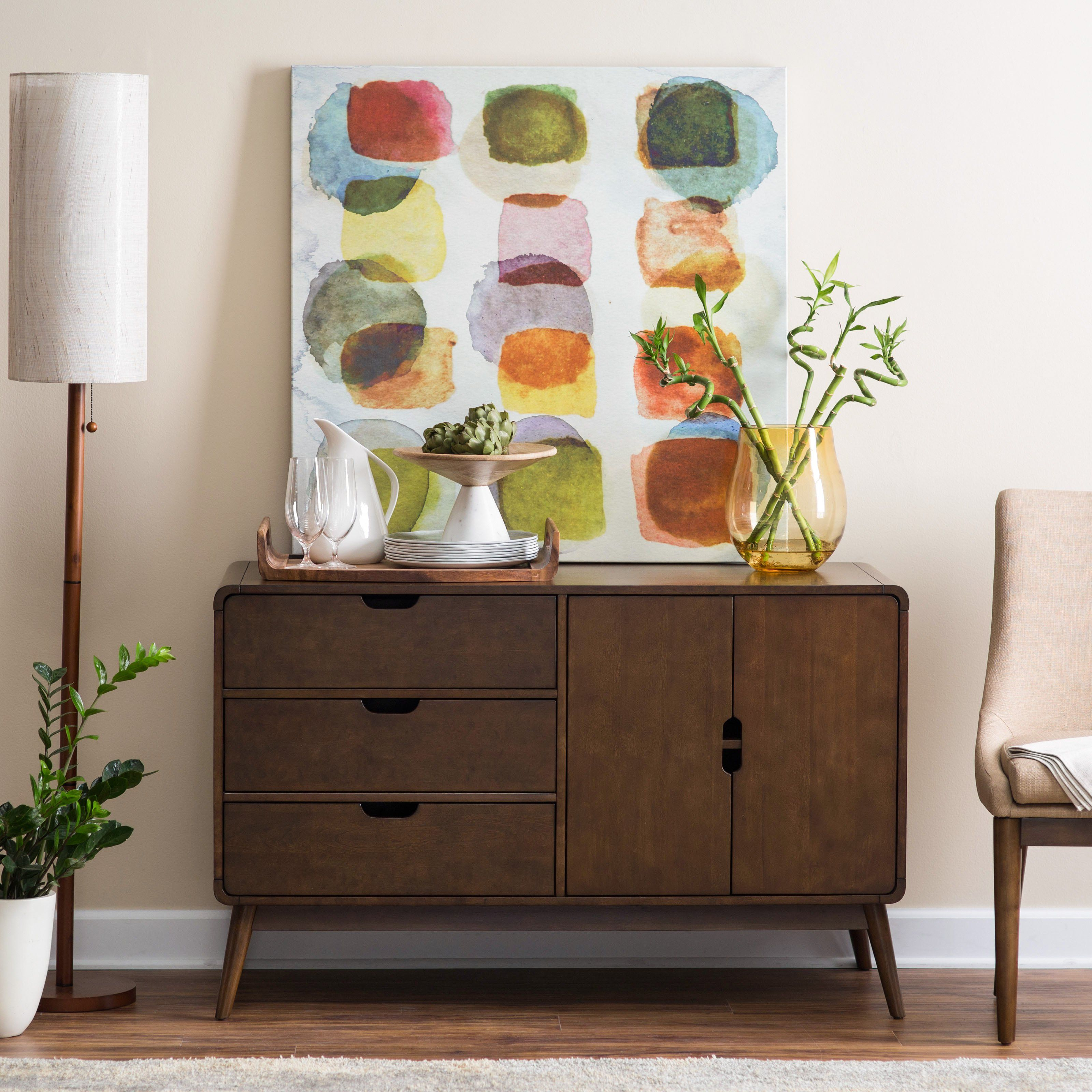 695f8222c3 A mid-century darling, this Belham Living Carter Buffet offers the best of  mid-mod style designed to accommodate today's needs. This buffet.