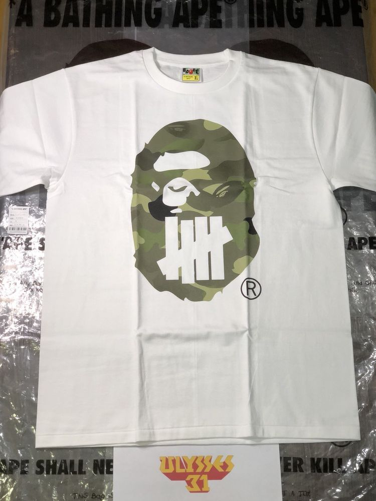 bcca6105 BAPE x UNDEFEATED A BATHING APE T-Shirt XL | ebay | Bape, Mens tops ...