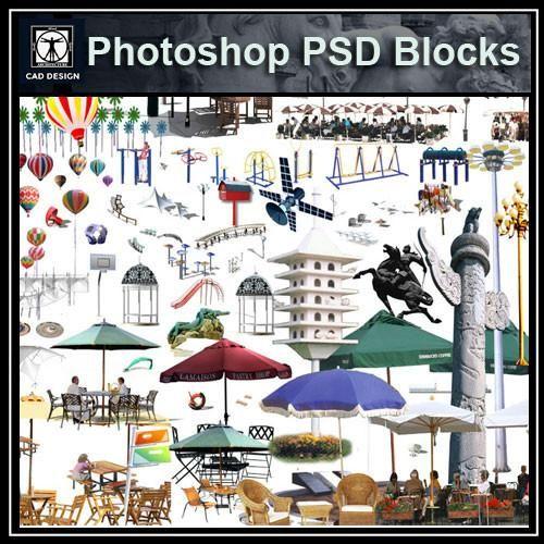 Interior Design Software: Photoshop PSD Landscape Decorative Elements 2