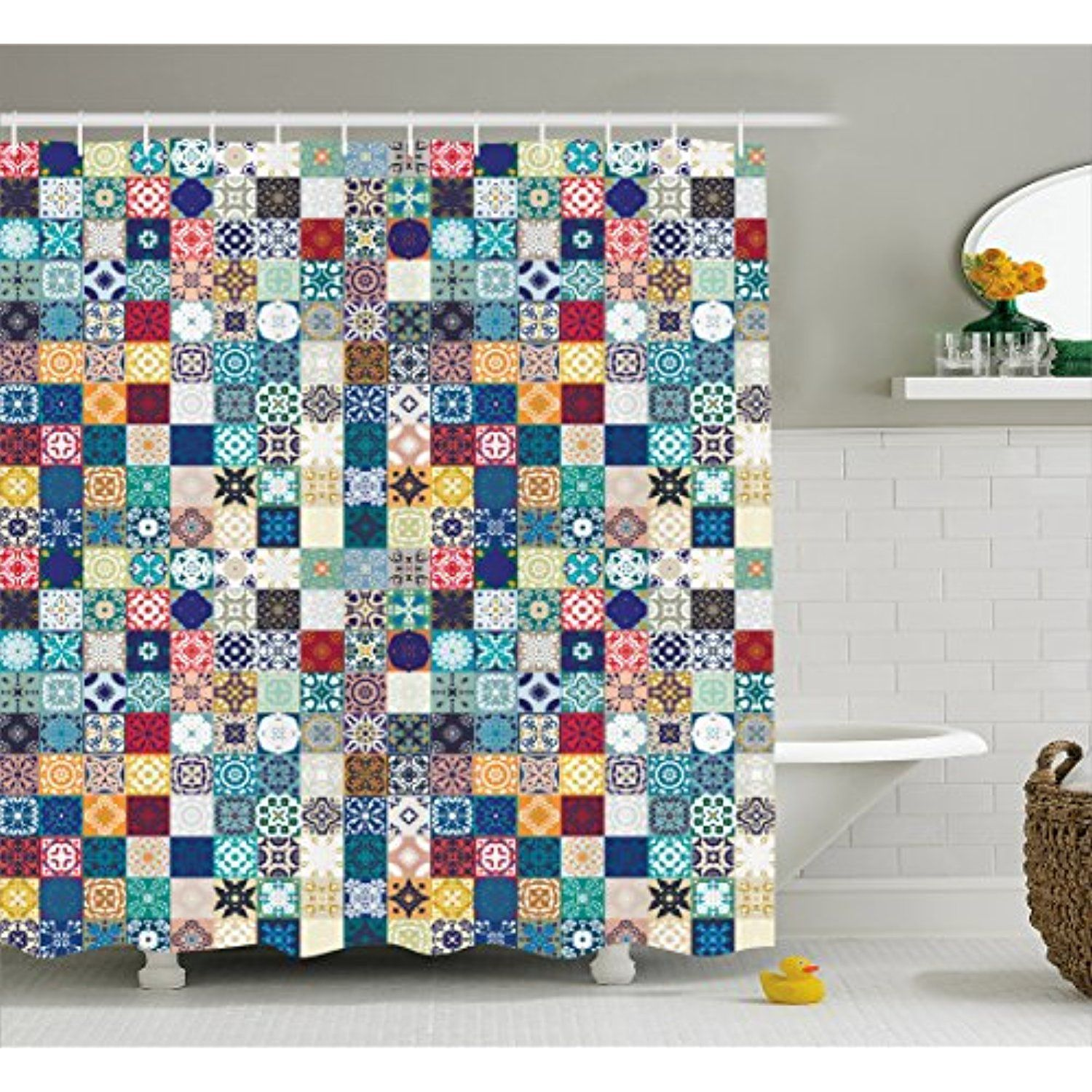 Moroccan Shower Curtain By Ambesonne Oriental Eastern Pattern