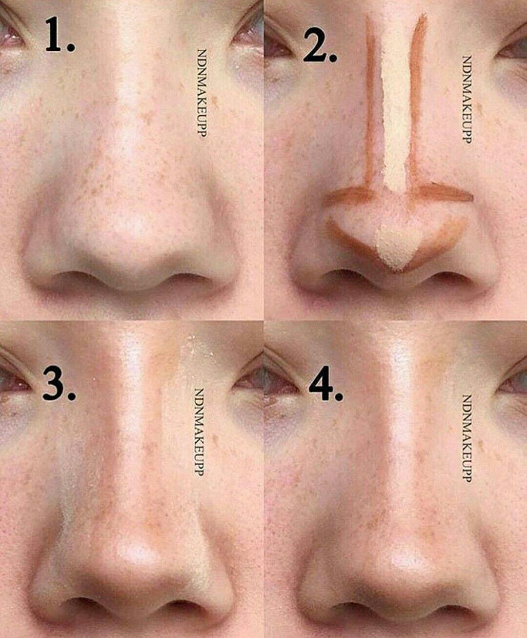 Natural nose contour  Korean makeup tips, Nose contouring