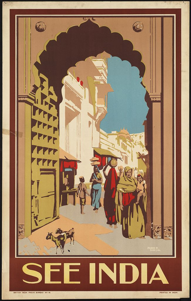 See India India poster, Vintage travel posters, Travel