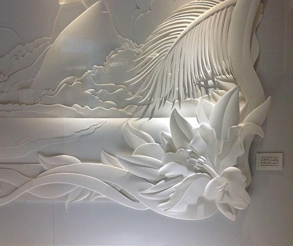 Leblon - paper sculptures by Carlos Meira, via Behance