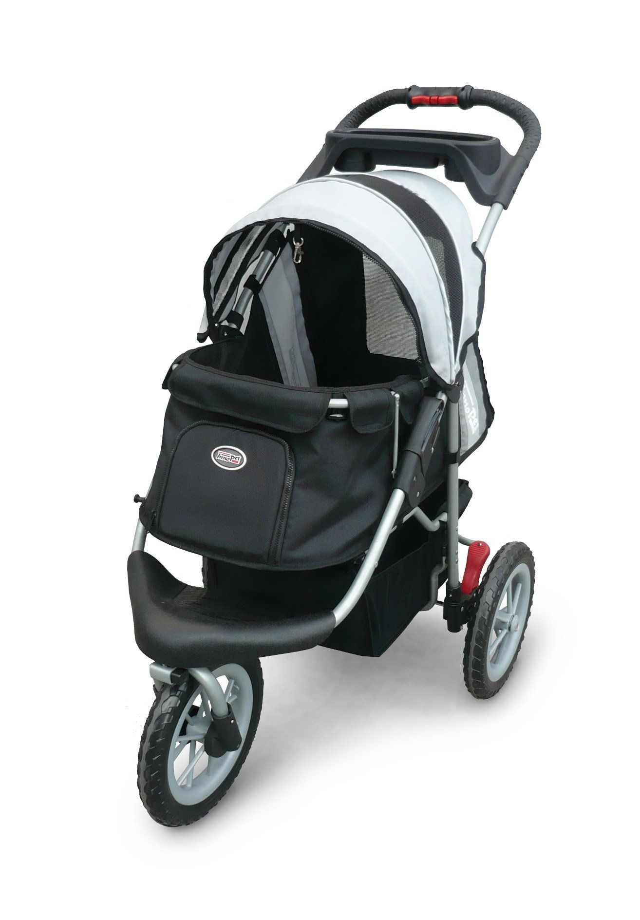 Pet Stroller,IPS070,Black/Silver, Free Rain and Wind