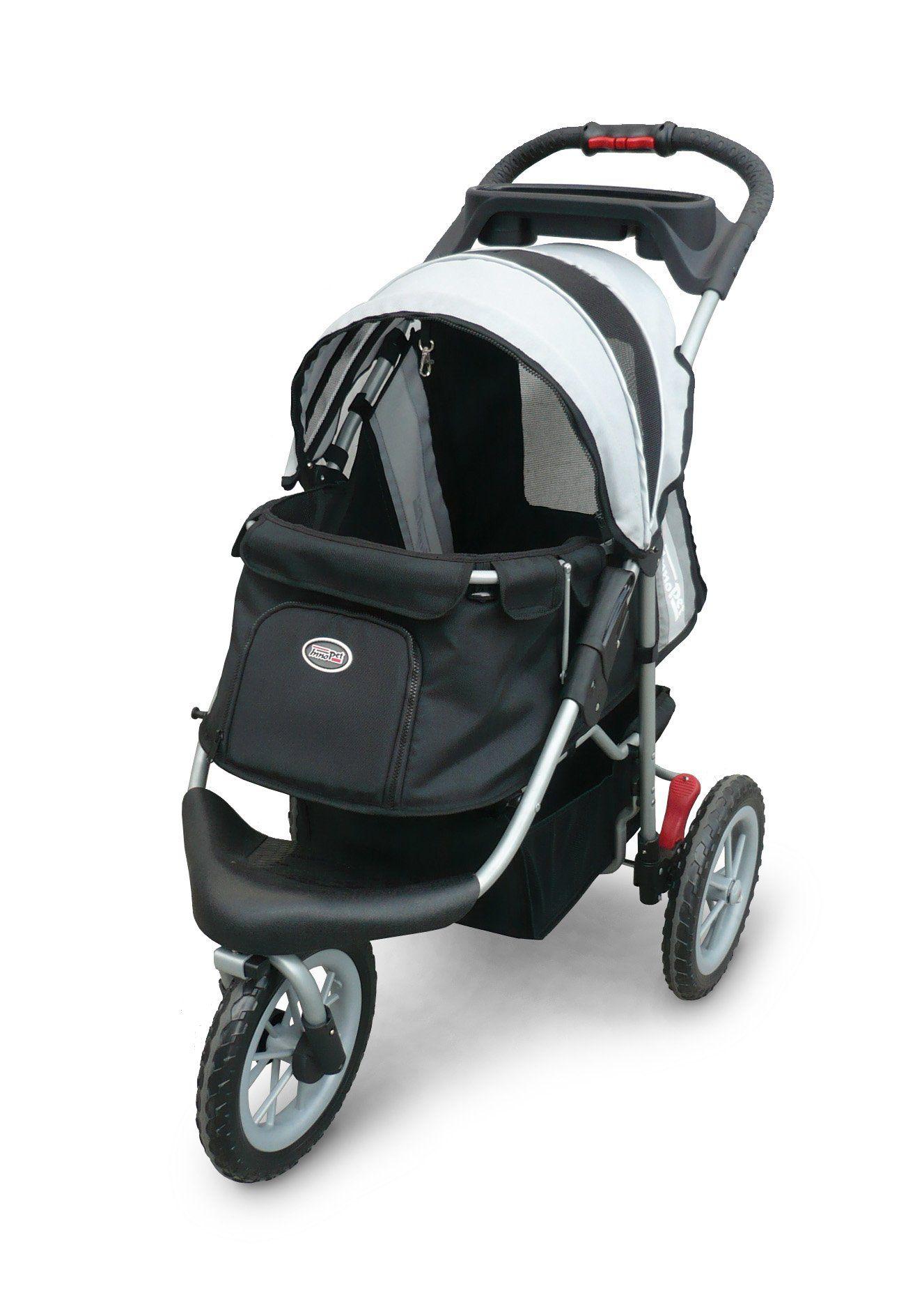 Pet Stroller,IPS070,Black/Silver, Free Rain and Wind