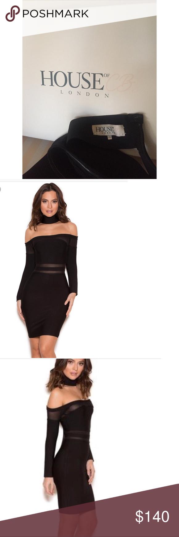 House of CB Neeva Bandage Off The Shoulder Dress •worn once
