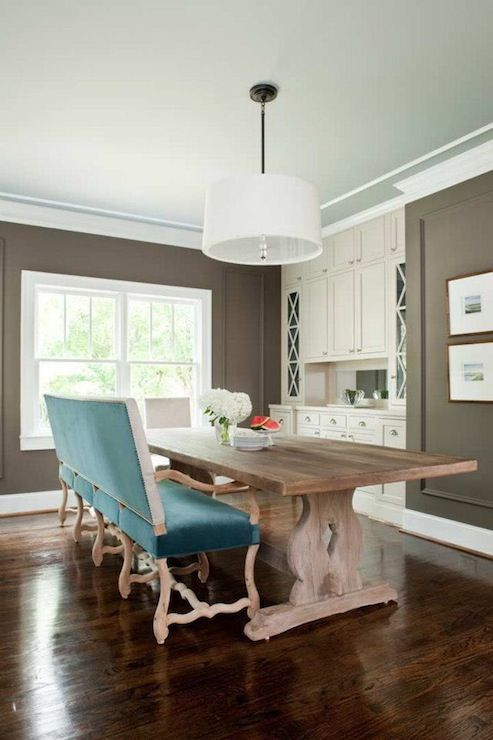 taupe and teal living room | properties - dining rooms - taupe