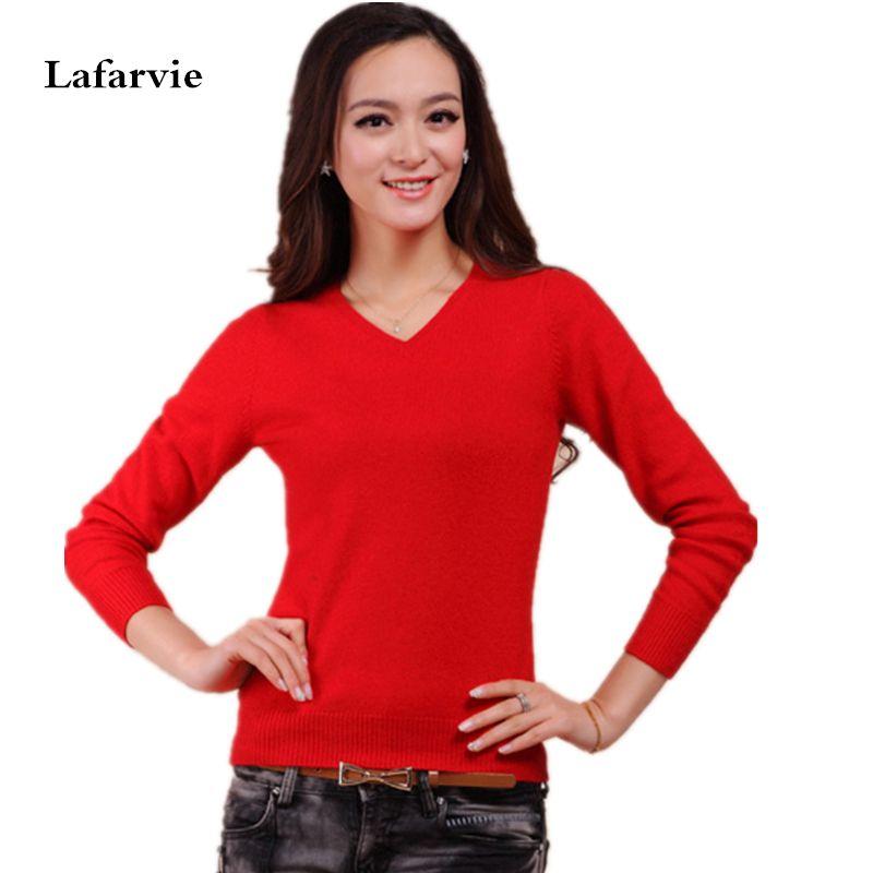 판매 캐시미어 스웨터 여성 스웨터 겨울 따뜻한 모직 니트 스웨터 새로운 2015 패션 V 넥 Colorfull 스웨터
