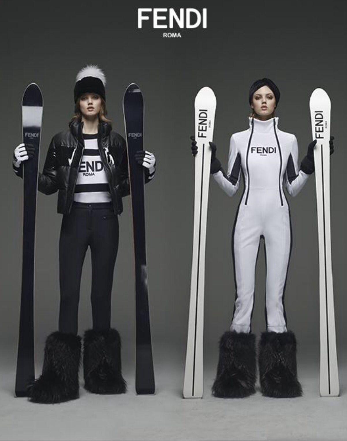 Fendi Leisurewear 15 16 Skying With Fendi Skiing Outfit Ski Fashion Womens Ski Women