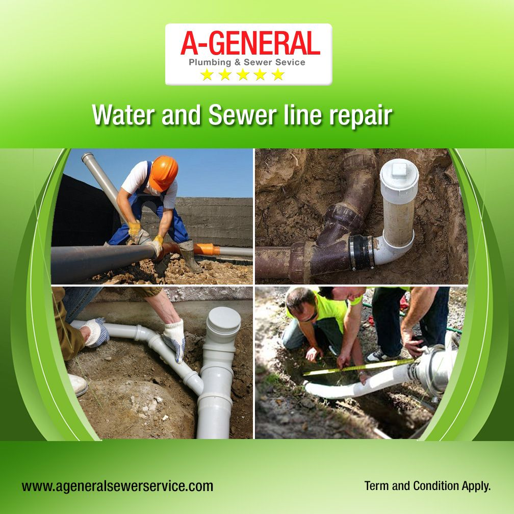 From Water Line Leaks To Emergency Sewer Repairs Call The Plumbing Experts At A General Plumbing Service We Are Availa Sewer Line Repair Sewer Repair Plumbing