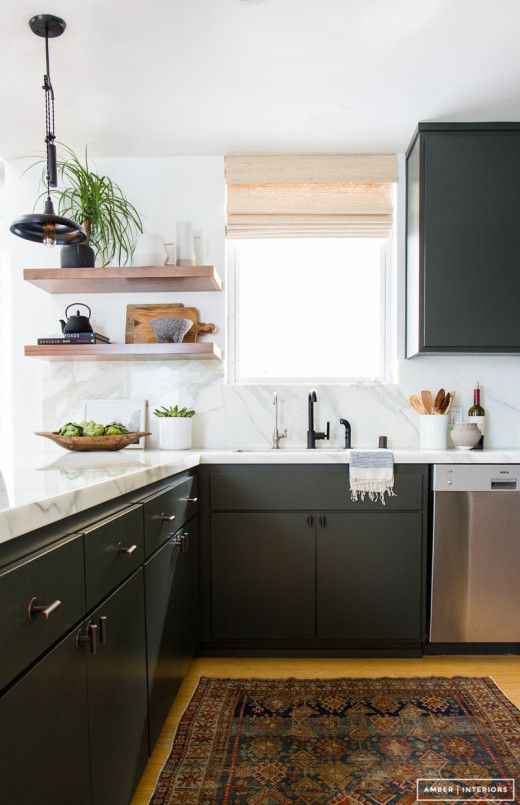 Amber took a small kitchen and made it feel bright, open, airy and so so  stylish. The post Modern Ki