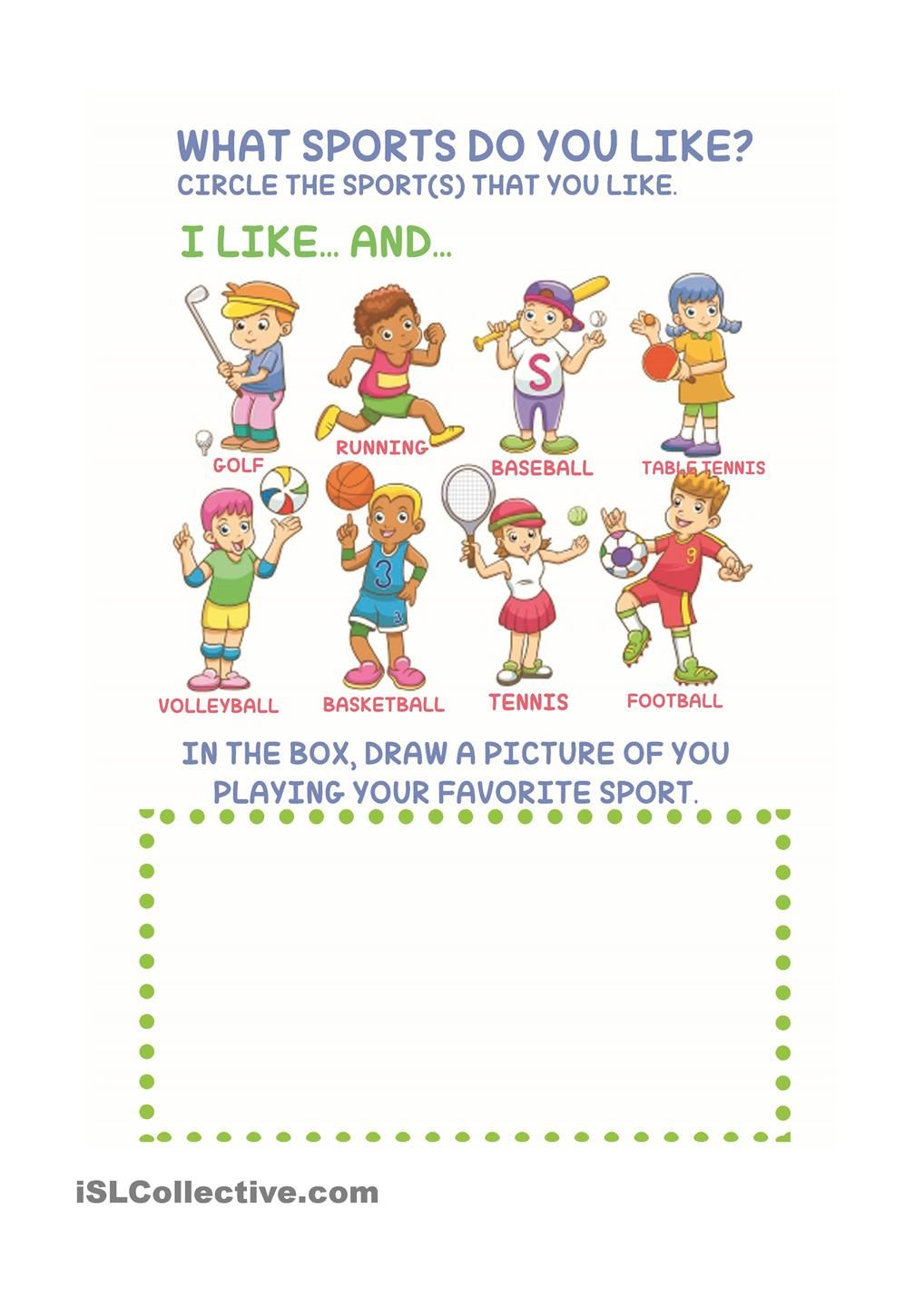 Sports for Kids | daily routines | Pinterest | Worksheets ...