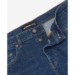 The Kooples – Dark blue slim jeans with leather pocket – Damenthekooples.com