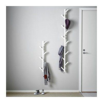 Ikea tjusig solid wood modern wall hanger coat hook white - Porte manteau mural bois ikea ...