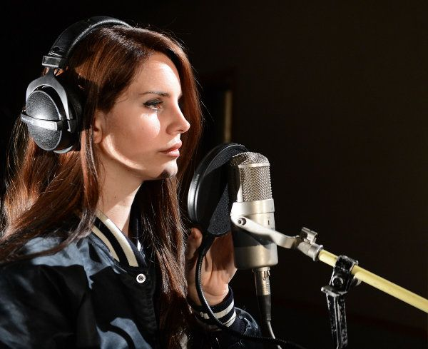 Lana Del Rey recording at BBC Maida Vale studios in London on April 11