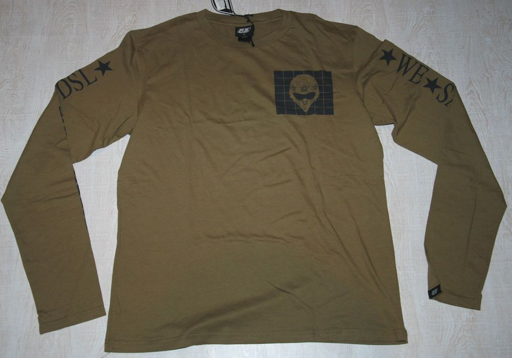 af856ffbd 55 DSL DIESEL TOMMY RUFF T SHIRT LONG WE SALUTE YOU SLEEVE MILITARY GREEN L  XL