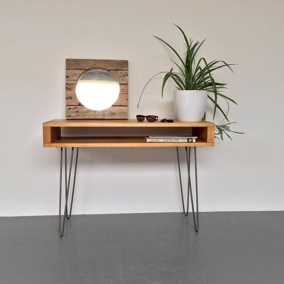 Good Oldfield Hall Console Sideboard Table 70cm High, On Metal Hairpin Legs