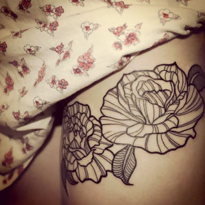 Cover Up Rose Outline: Inspirational Tattoos, Ink Tattoo, Cover