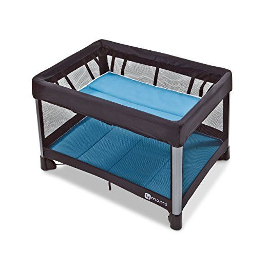 One Pull Close 4moms Breeze Go Portable Travel Playard Easy One Push Open