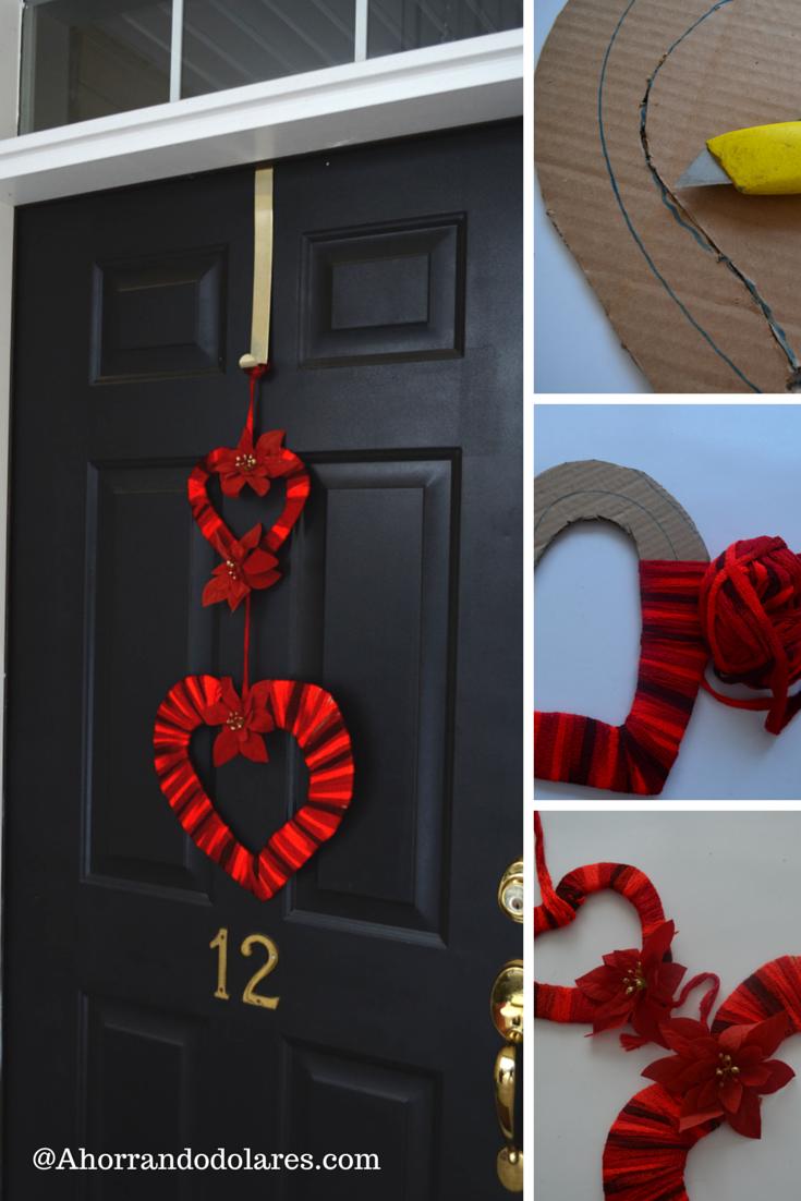 Decoraci n de san valent n para la puerta diy for Puertas decoradas del 14 de febrero