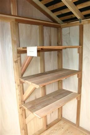 Create your own garden shed corner shelves wikihow diy for Build your own corner bookcase