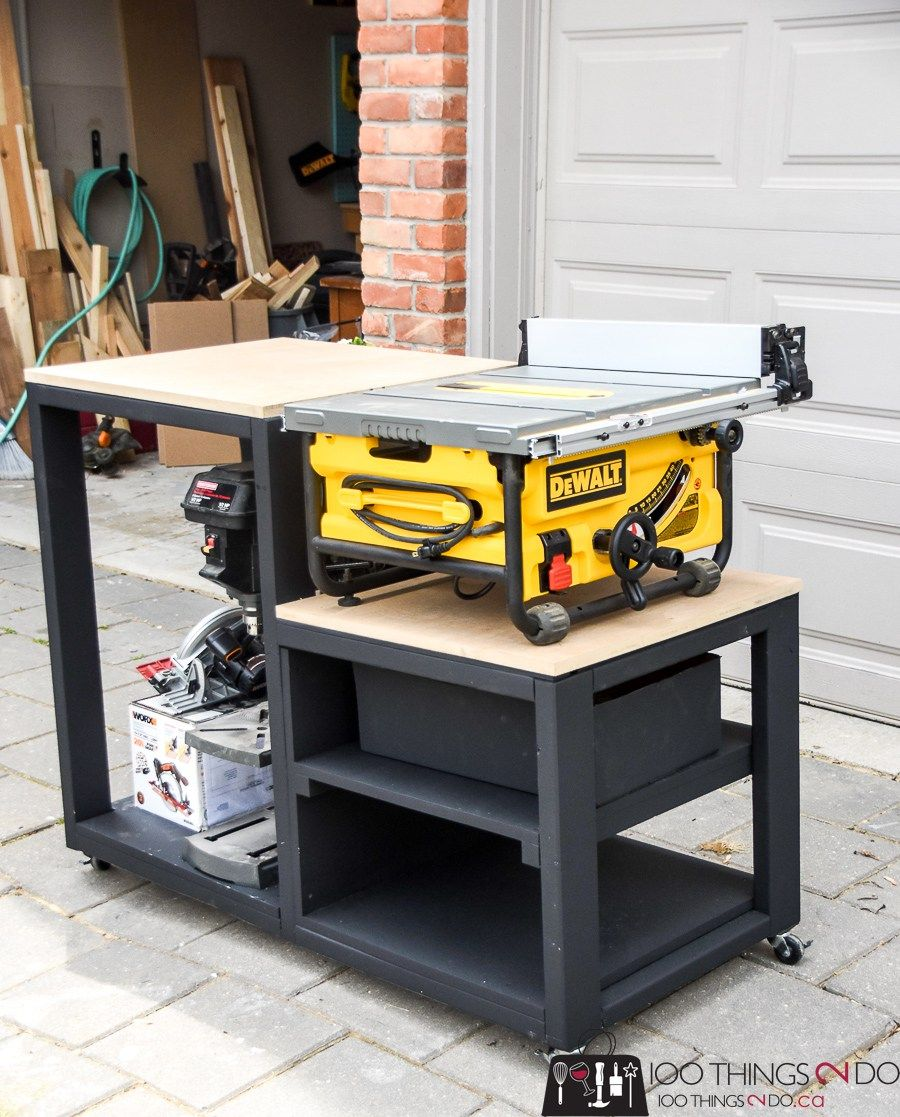 Table Saw Stand Diy Table Saw Table Saw Workbench Table Saw Stand