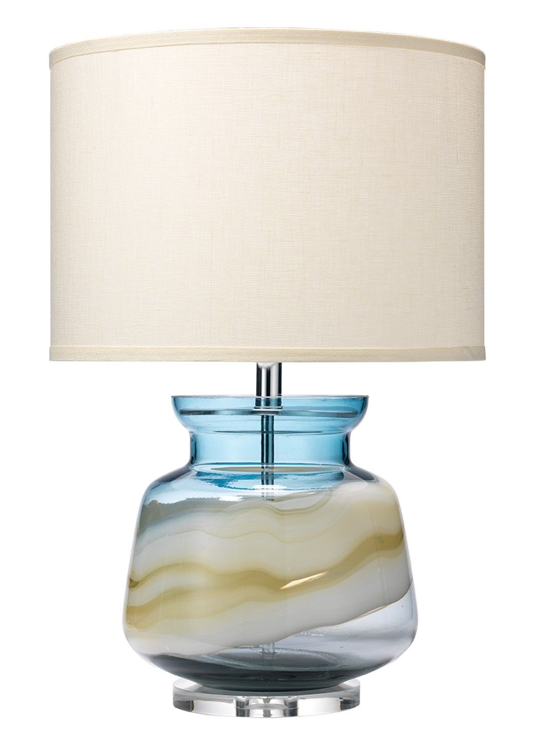 Blue glass table lamps  Ursla Table lamp  Finish as shown blue swirl glass Other avail