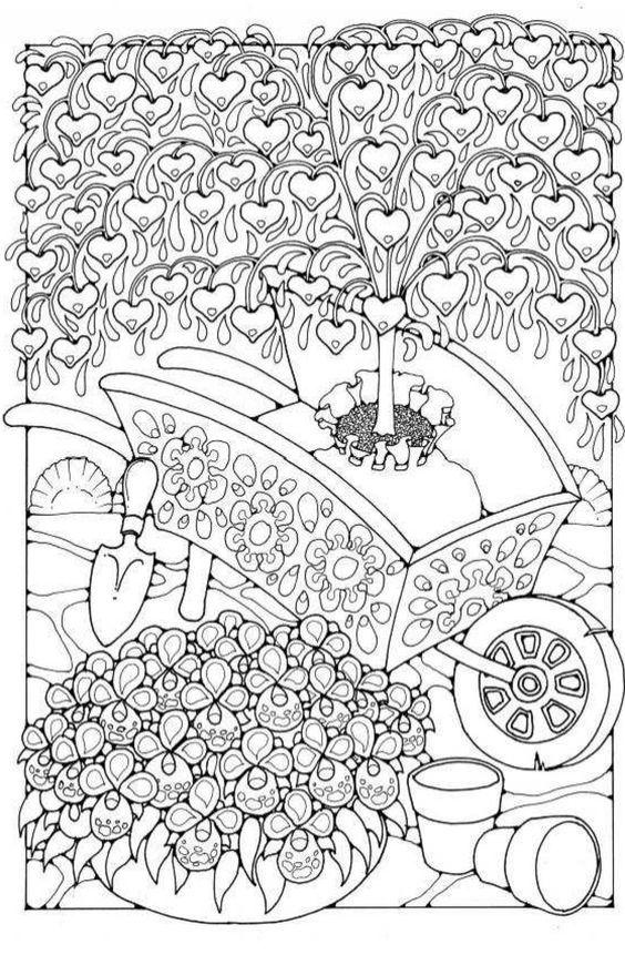 Kleurplaten Voor Volwassenen Tuin.Pin Van Barbara Op Coloring Garden Kleurplaten Kleuren En