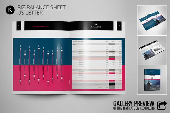 Biz Balance Sheet US Letter by Keboto on @creativemarket Templates - business balance sheet template
