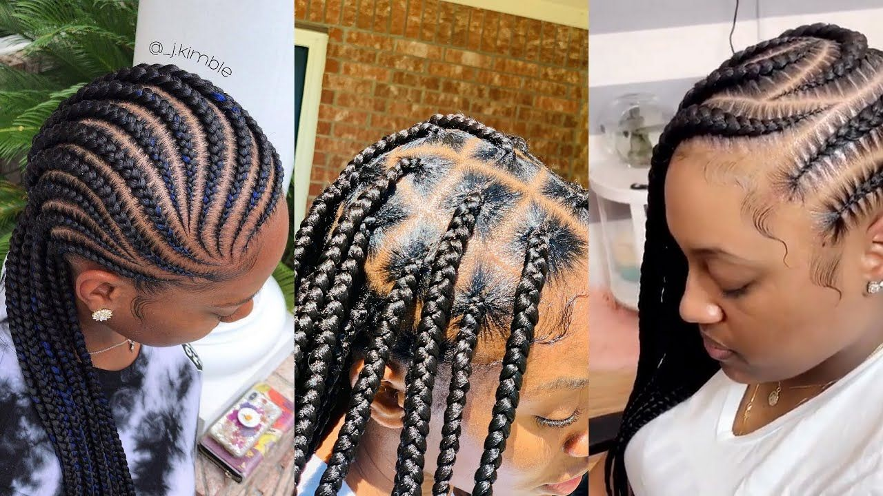 Latest Braided Ghana Weaving Hairstyles In 2021 New Female Braids For Hair Styles Ghana Weaving Braids