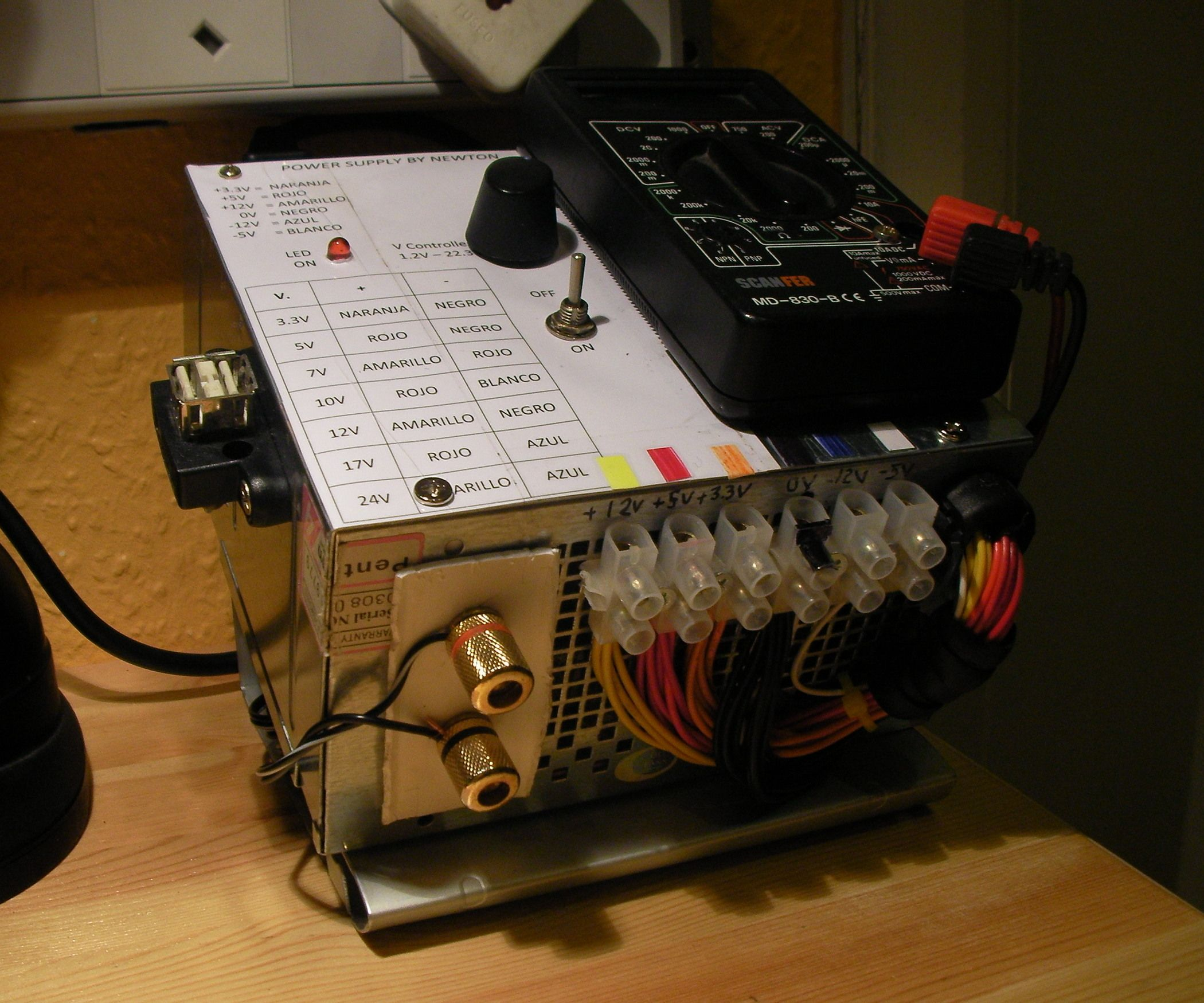 Diy Psu Into Bench Power Supply Computer Power Supplies Power Supply Power