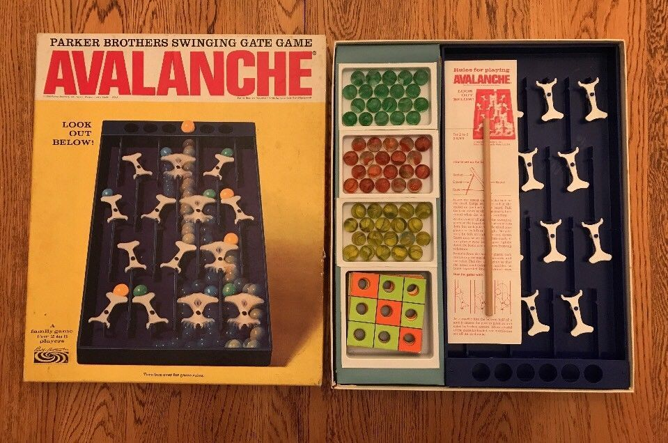 Vintage AVALANCHE / Marbles and Gravity Game Parker ...