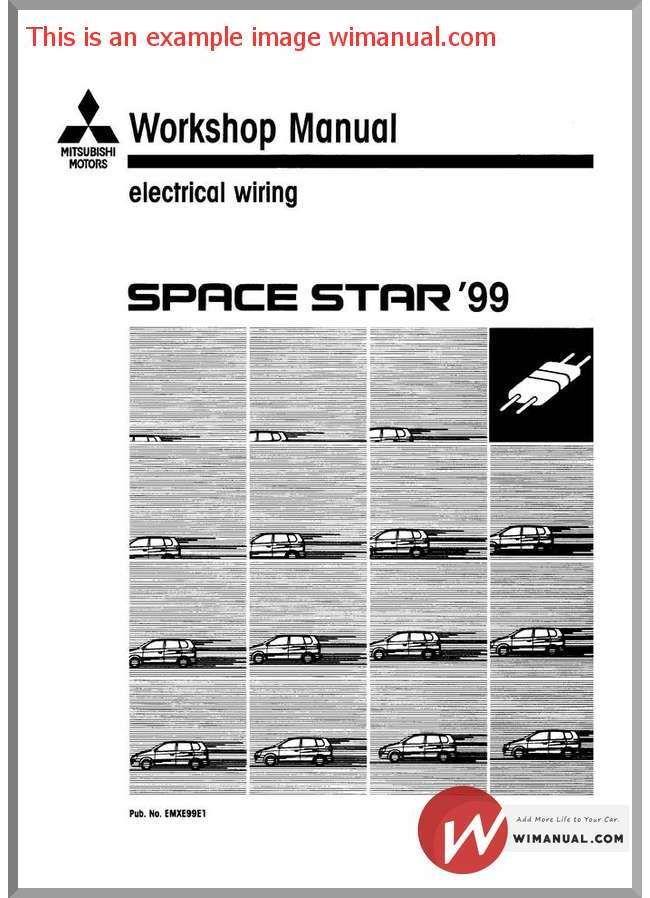 Mitsubishi Space Star 1999 Electrical Wiring Mitsubishi