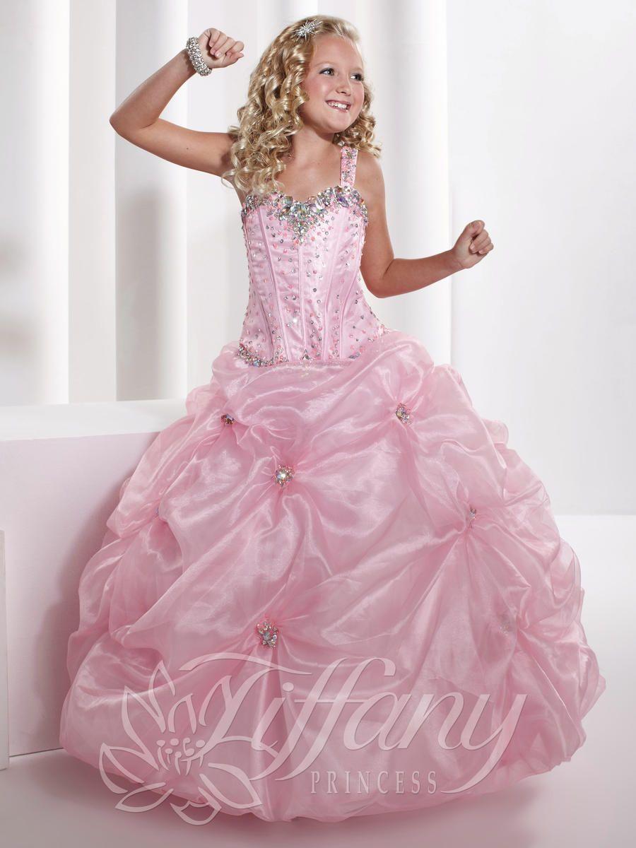 Girls Pageant Dresses by Tiffany Princess 13326 | little girls big ...