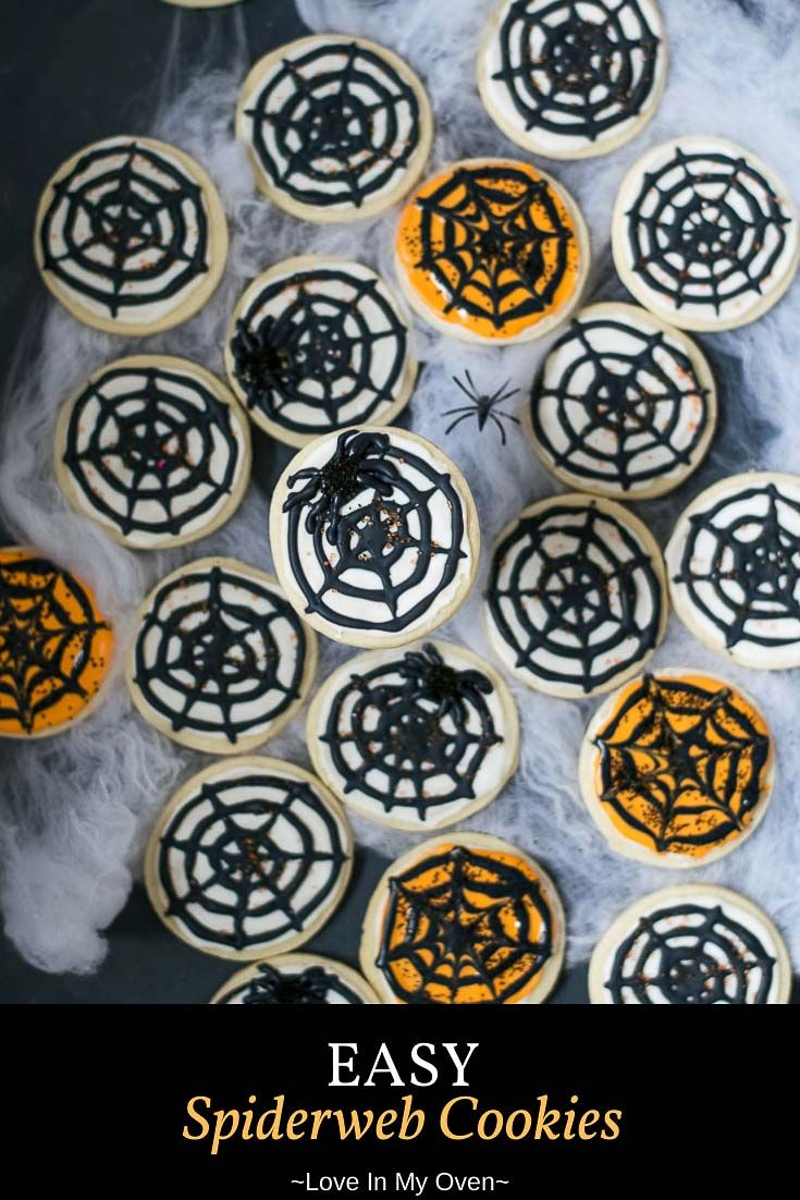 Spiderweb Cookies #halloweencookies