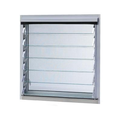 Tafco Windows 11 In X 12 875 In Jalousie Utility Louver Awning Aluminum Screen Window In White Jalw1214 The Home Depot Aluminum Screen Window Design Louver Windows