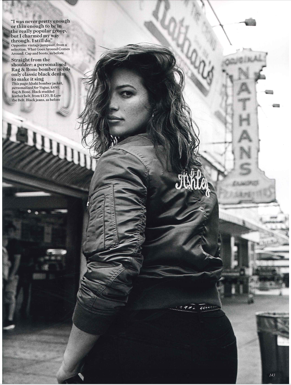 Vogue UK, January 2017 | rag\u0026 bone custom Manston Bomber Jacket ...