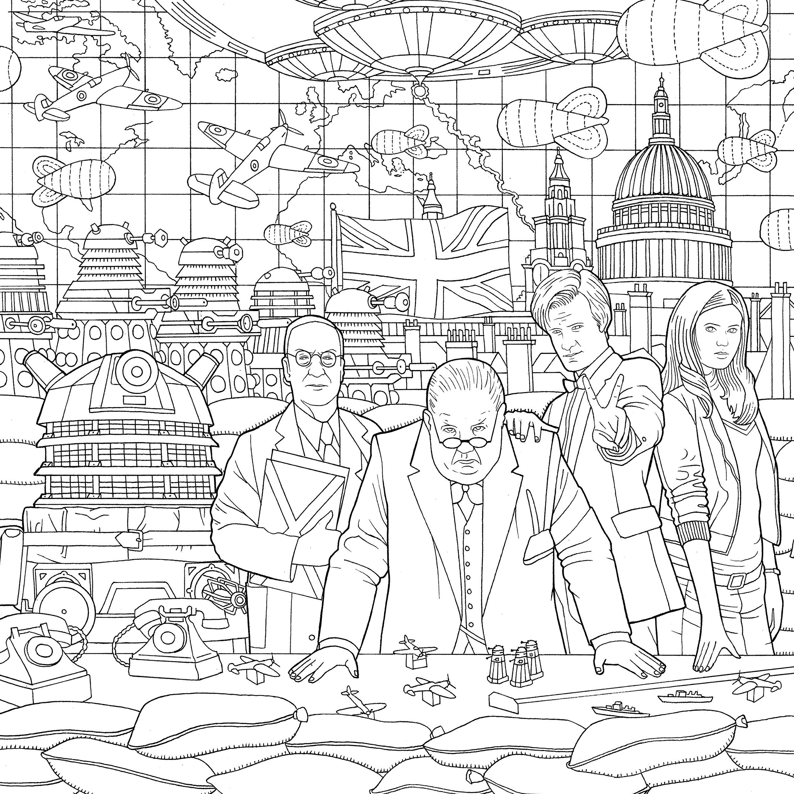 Doctor Who Travels In Time Colouring Book Amazon Co Uk 9781405927260 Books Coloring Books Doctor Who Mermaid Coloring Book