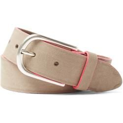 Photo of Tom Tailor women's leather belt with neon details, beige, size 90 Tom TailorTom Tailor