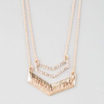 FULL TILT 2 Row Chevron Necklace | Necklaces